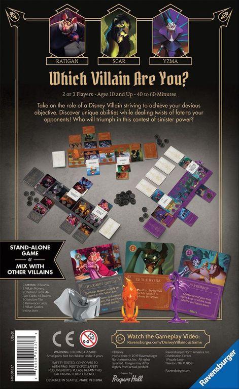 Disney Villainous: Evil Comes Prepared back of the box
