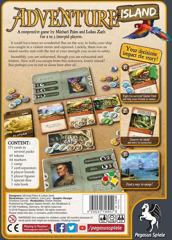 Adventure Island back of the box