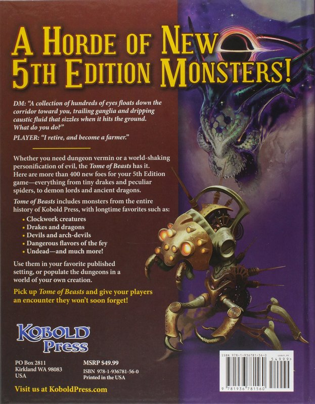 Tome of Beasts back of the box