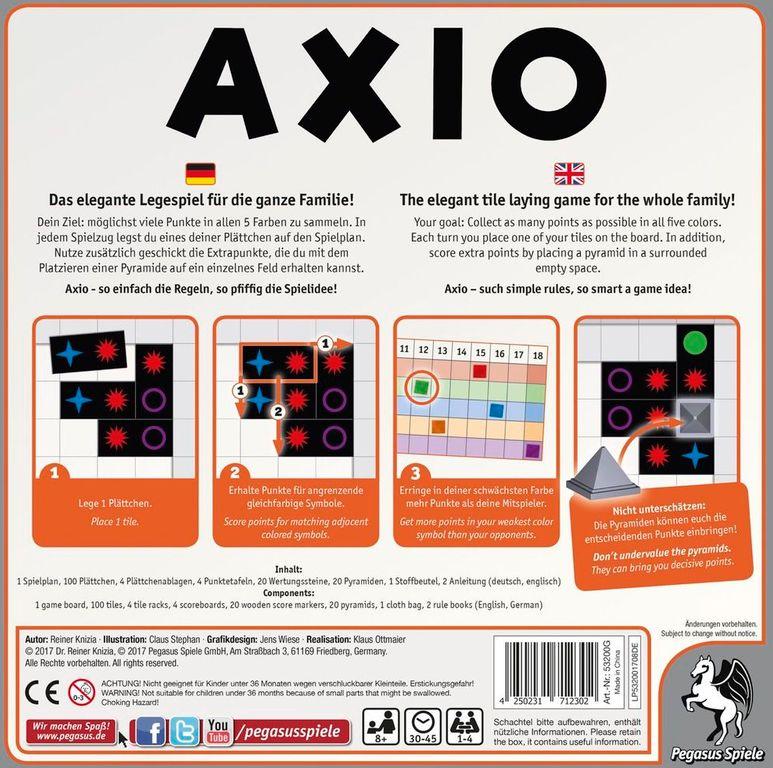 Axio back of the box