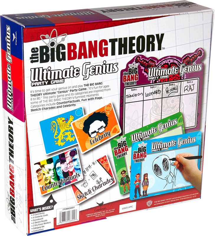 The Big Bang Theory: Ultimate Genius Party Game back of the box