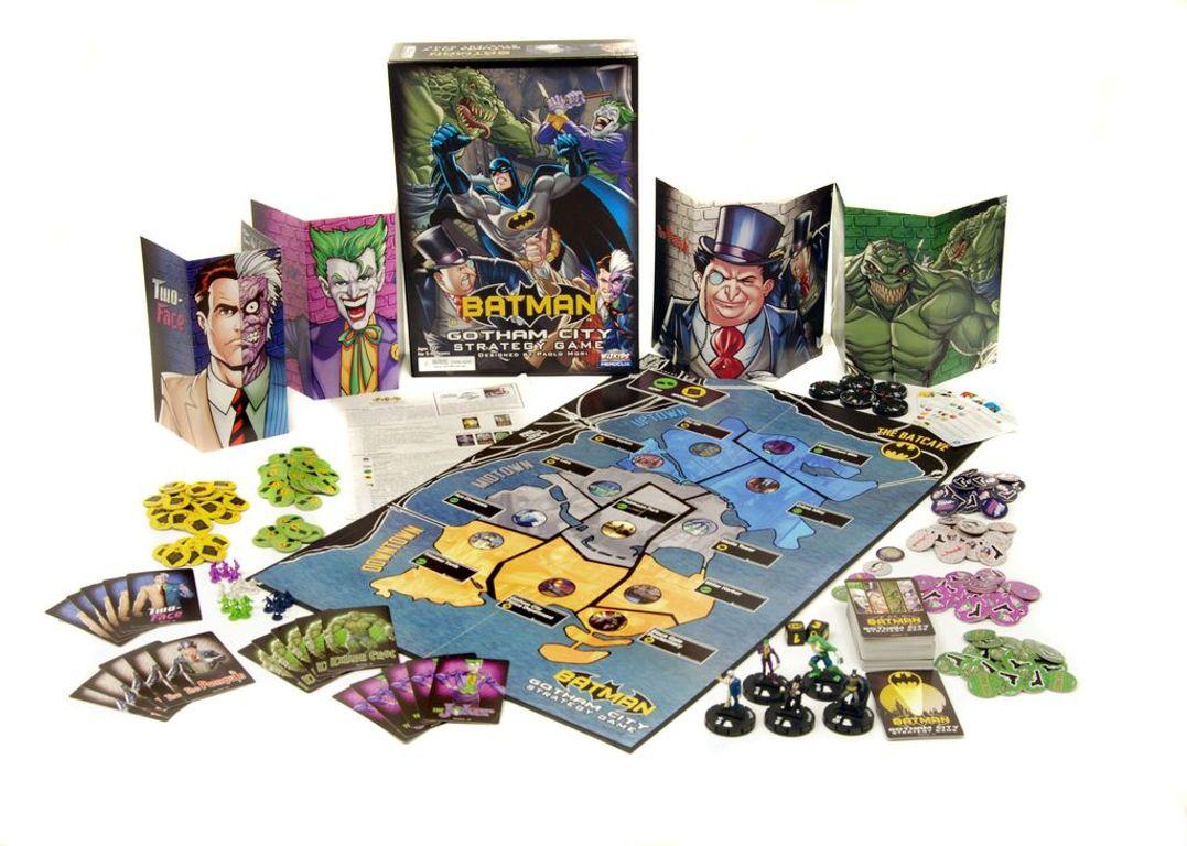 Batman: Gotham City Strategy Game components