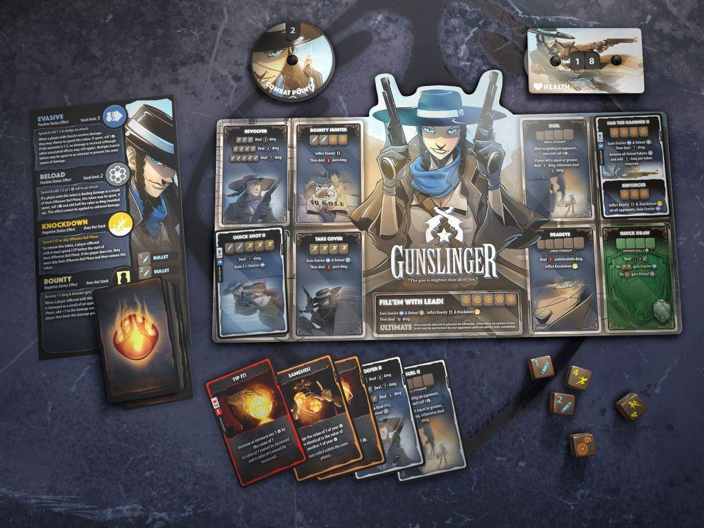 Dice Throne: Season Two - Gunslinger v. Samurai components