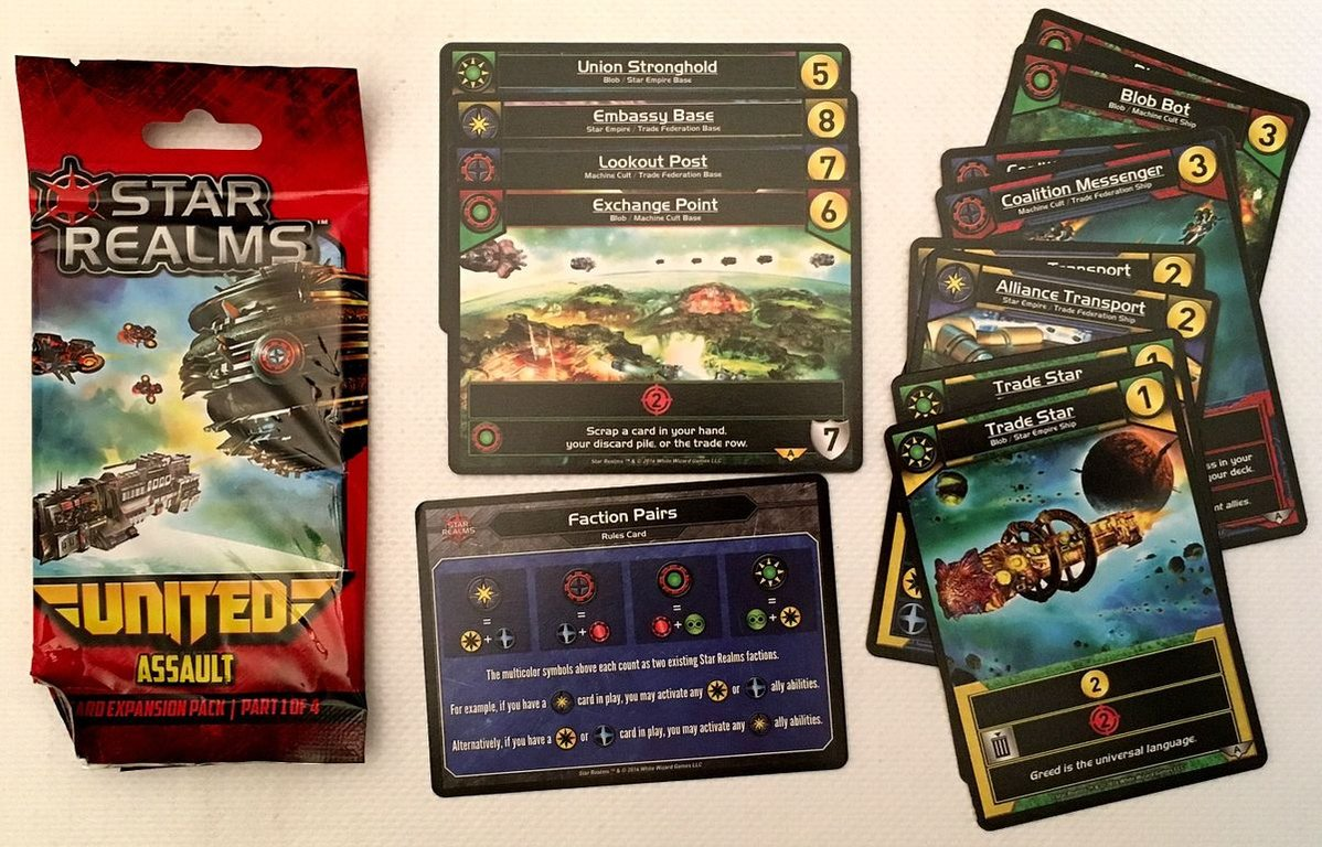 Star Realms: United - Assault components