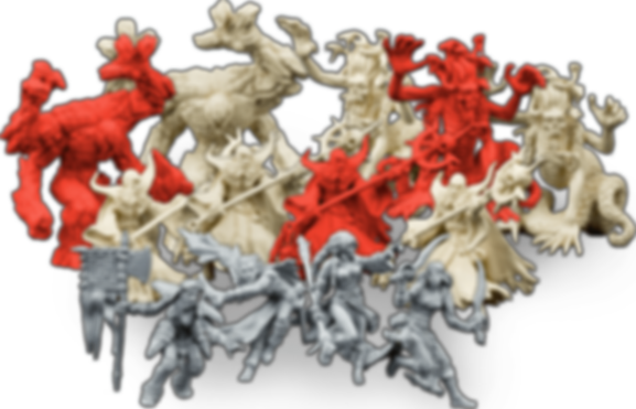 Descent: Journeys in the Dark (Second Edition) – Crusade of the Forgotten miniatures