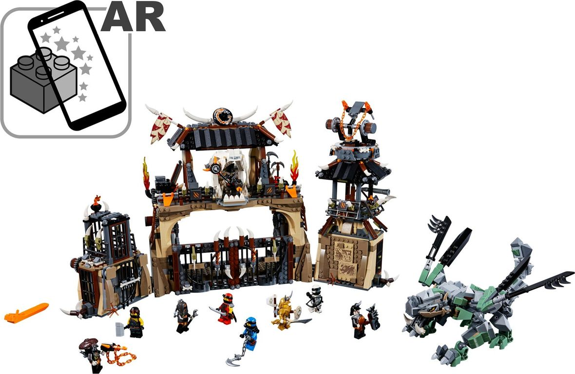 LEGO® Ninjago Dragon Pit components