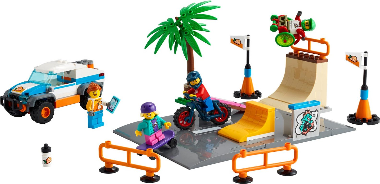 LEGO® City Skate Park components