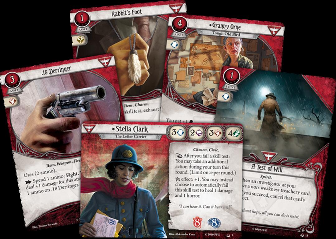 Arkham Horror LCG: Stella Clark Investigator Starter Deck cards