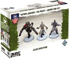 """Dust Tactics: Allies Hero Pack - """"Action Jackson / The Priest / Johnny One-Eye"""""""