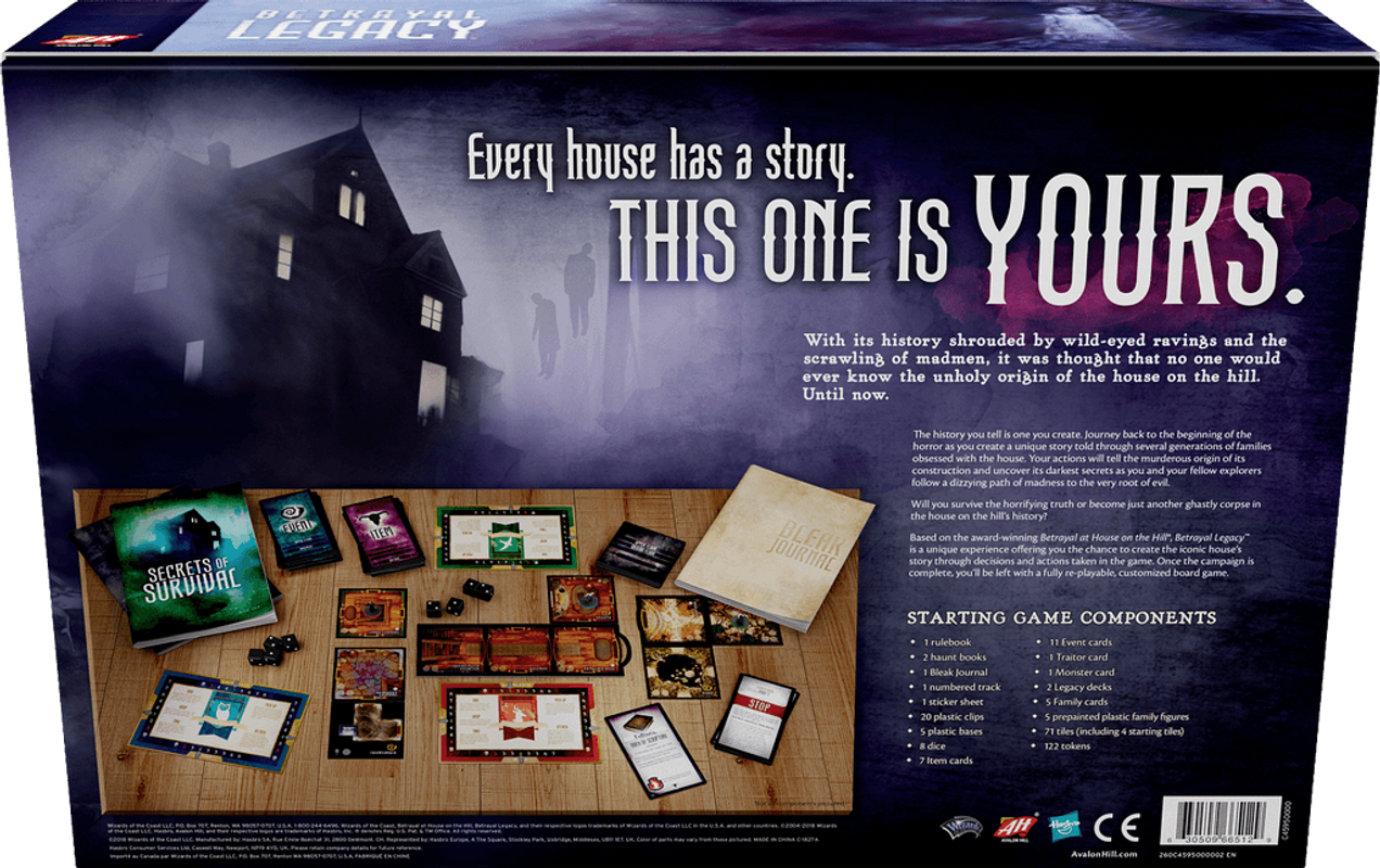Betrayal Legacy back of the box