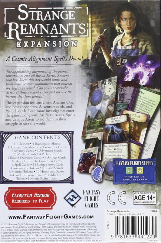 Eldritch Horror: Strange Remnants back of the box