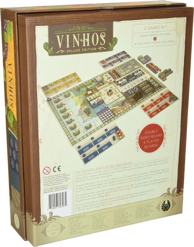 Vinhos Deluxe Edition back of the box