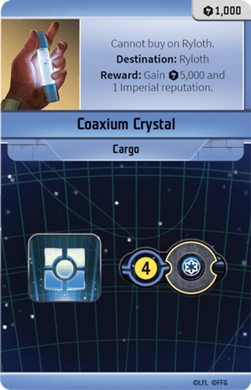Star Wars: Outer Rim Coaxium Crystal card