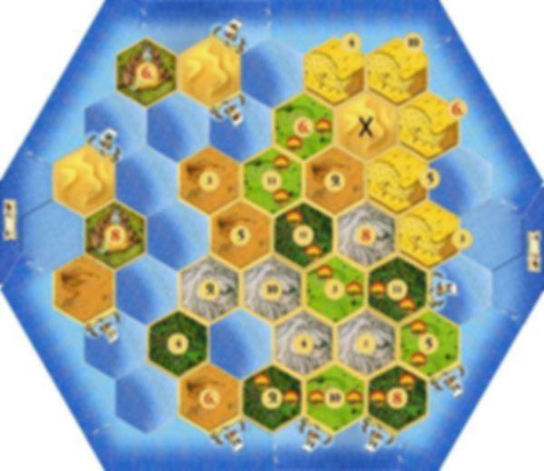 De Kolonisten van Catan: Het Grote Kanaal game board