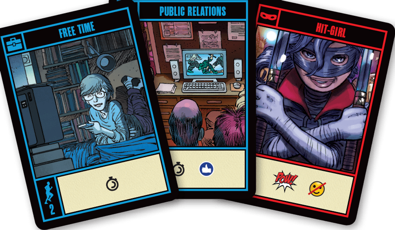 Kick-Ass: The Board Game cards