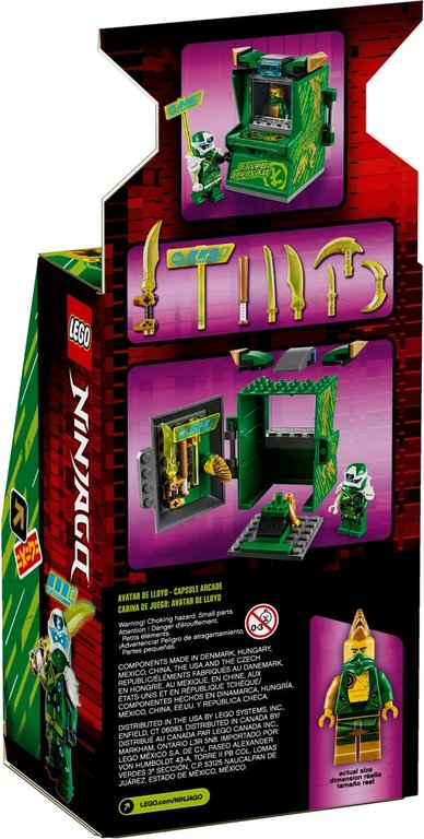 LEGO® Ninjago Lloyd Avatar - Arcade Pod back of the box
