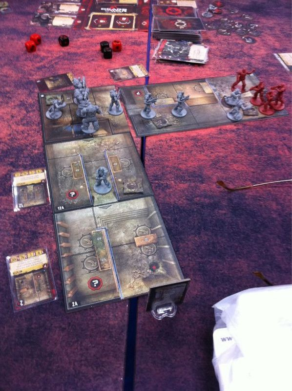Gears of War: The Board Game components