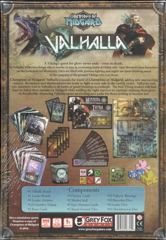 Champions of Midgard: Valhalla back of the box