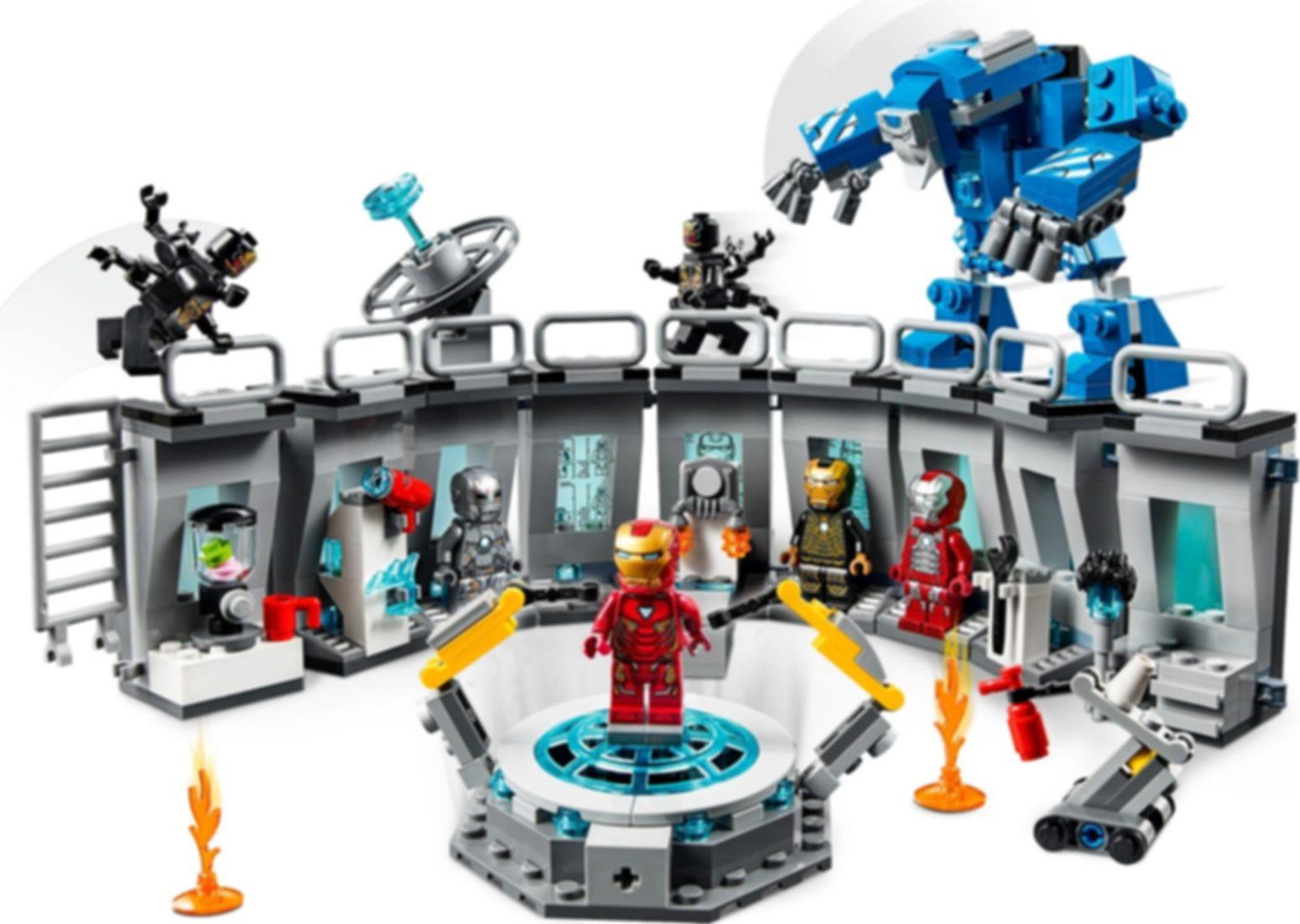LEGO® Marvel Iron Man Hall of Armor gameplay