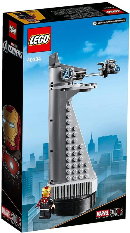 Avengers Tower back of the box