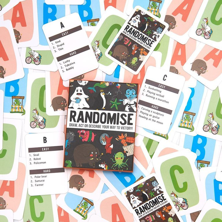 RANDOMISE: Draw, act or describe your way to victory cards