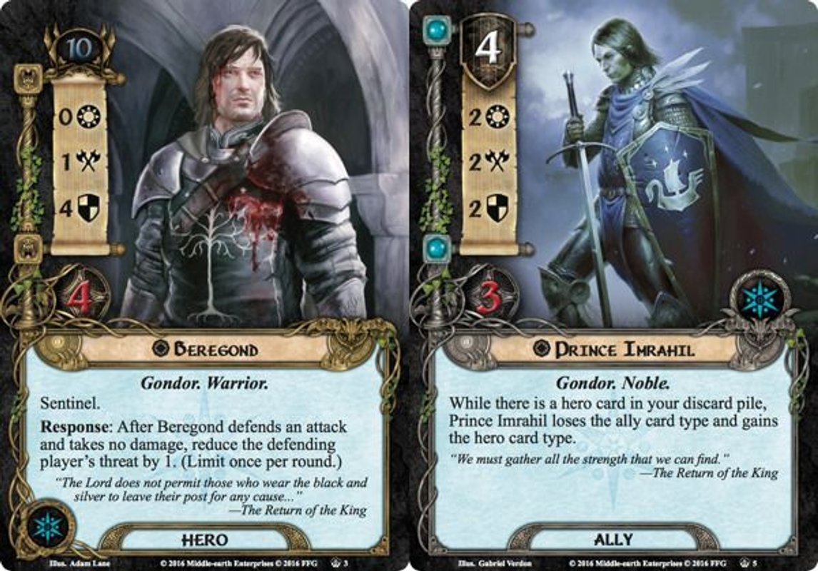 The Lord of the Rings: The Card Game - The Flame of the West cards