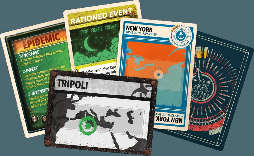Pandemic Legacy: Season 2 - Yellow Edition components