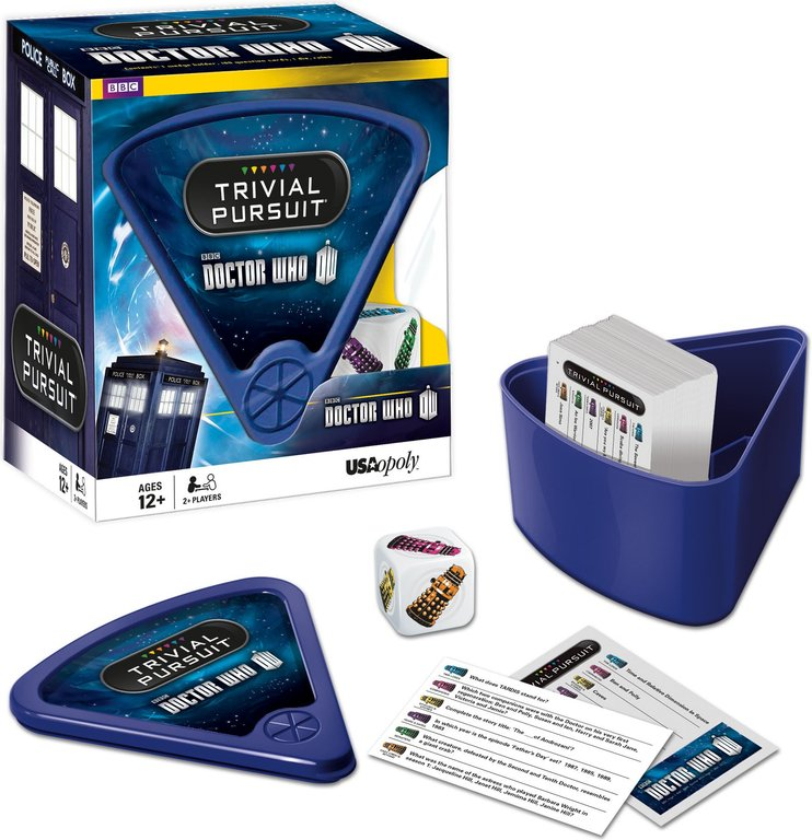 Trivial Pursuit: Doctor Who components