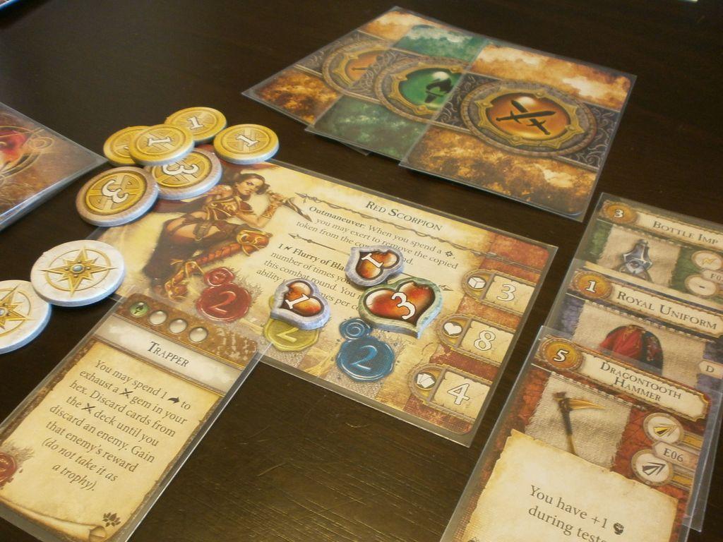 Runebound (Third Edition): The Gilded Blade - Adventure Pack gameplay