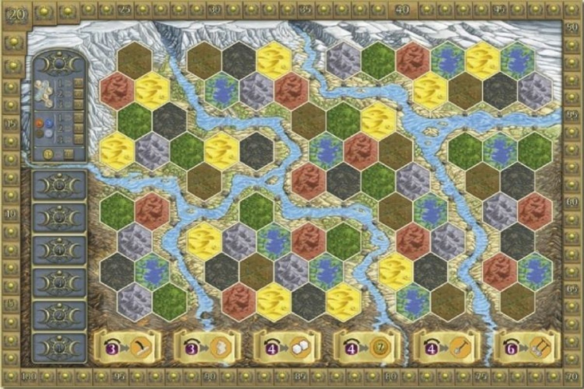 Terra Mystica: Fire & Ice game board