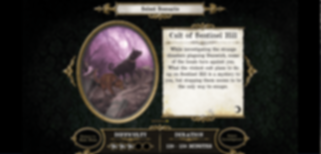 Mansions of Madness: Second Edition - Suppressed Memories Cult of Sentinel Hill carte