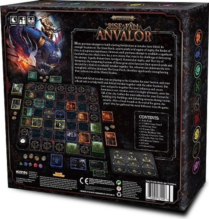 Warhammer: Age of Sigmar – The Rise & Fall of Anvalor back of the box