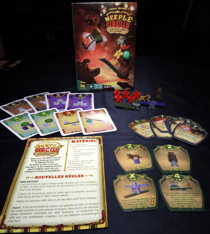 Meeple Circus: The Wild Animal & Aerial Show composants