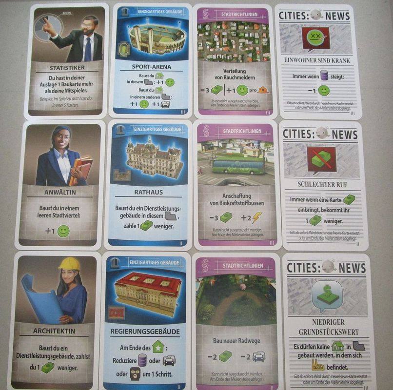 Cities: Skylines - The Board Game cards