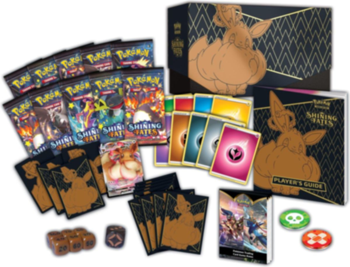 Pokémon TCG: Shining Fates Elite Trainer Box components