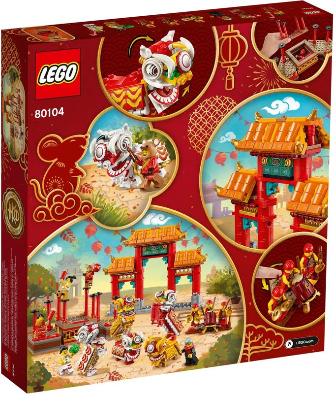Lion Dance back of the box