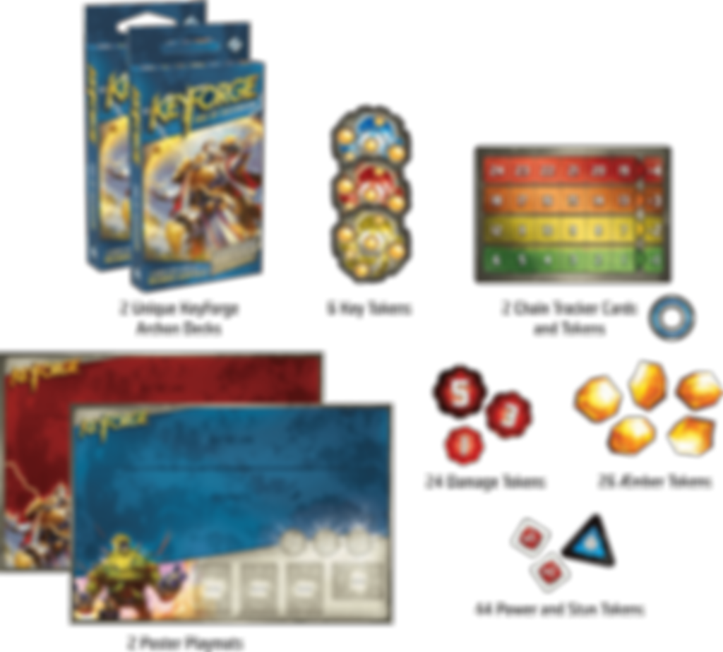 KeyForge Age of Ascension components