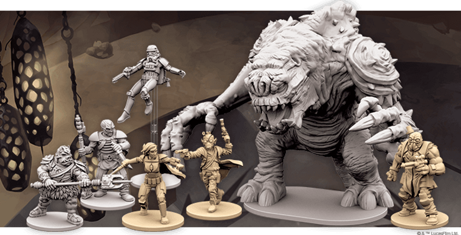 Star Wars: Imperial Assault - Jabba's Realm miniatures