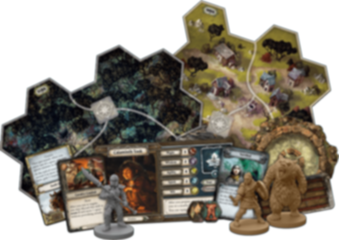 The Lord of the Rings: Journeys in Middle-Earth – Spreading War Expansion components