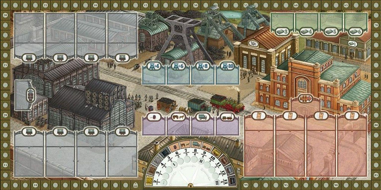 Coal Baron game board