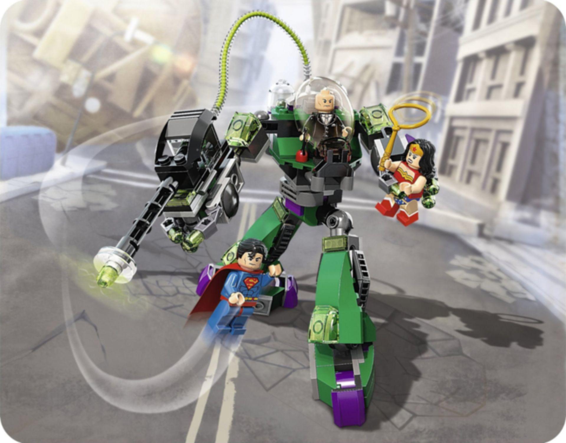 LEGO® DC Superheroes Superman vs. Power Armour Lex gameplay