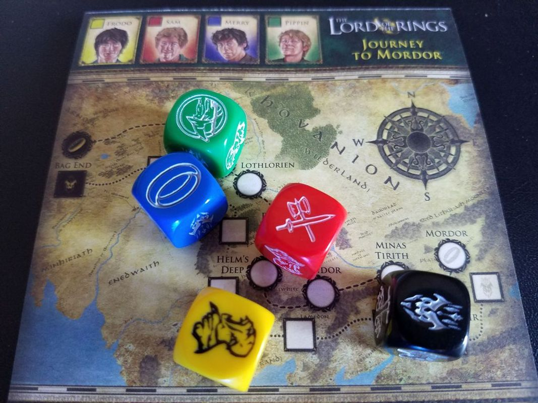 The Lord of the Rings: Journey to Mordor components
