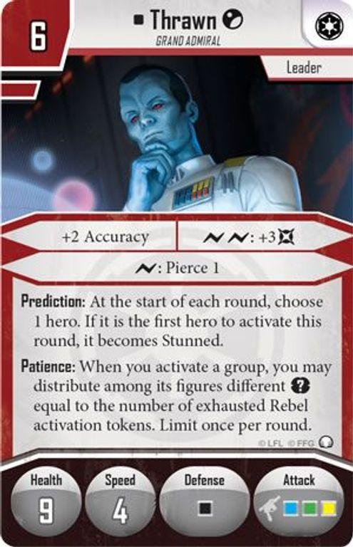 Star Wars: Imperial Assault – Thrawn Villain Pack Thrawn card