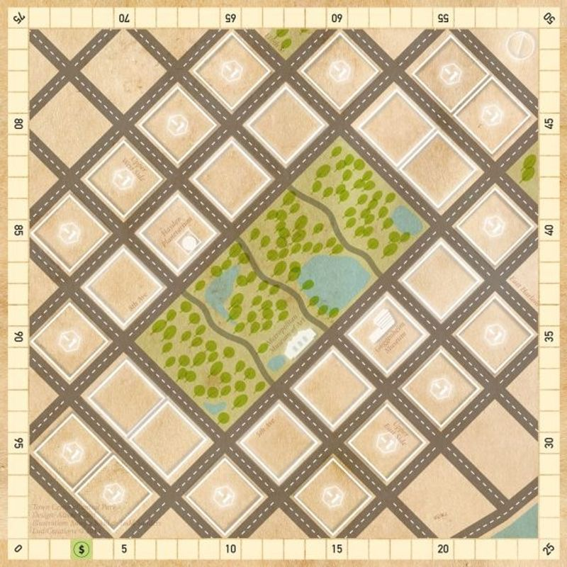 Town Center (4th edition) game board