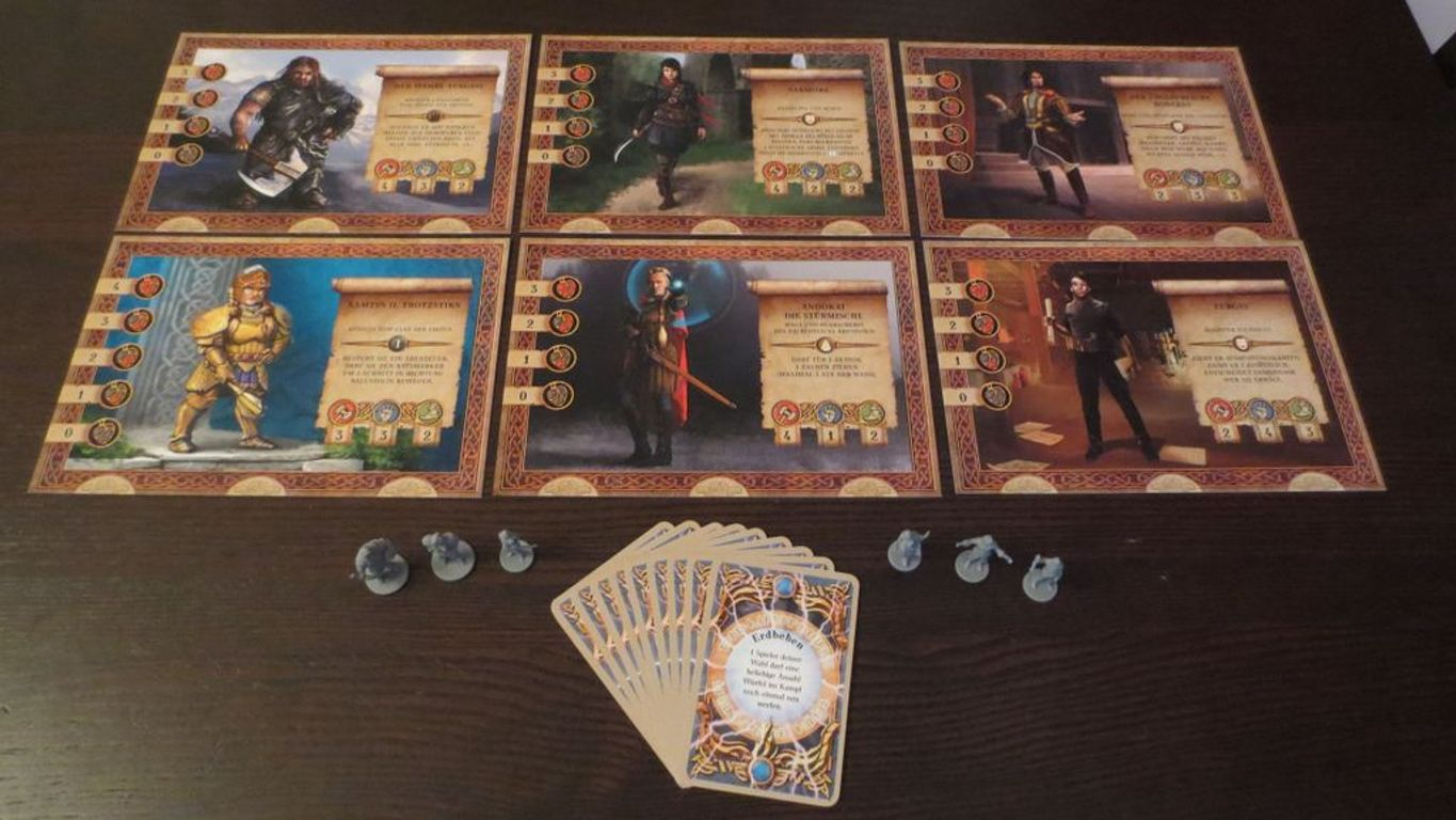 The Dwarves: New Heroes Expansion components