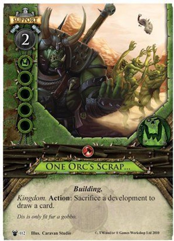 Warhammer: Invasion - Bleeding Sun One Orc's Scrap card