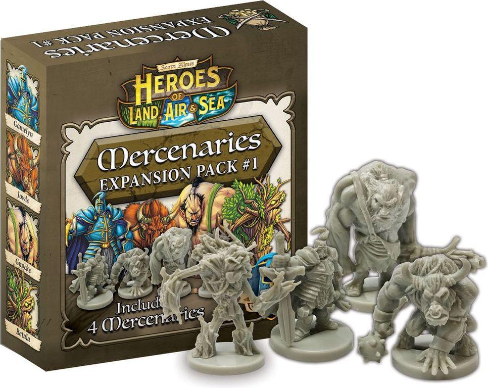 Heroes of Land, Air & Sea: Mercenaries Expansion Pack #1 miniatures