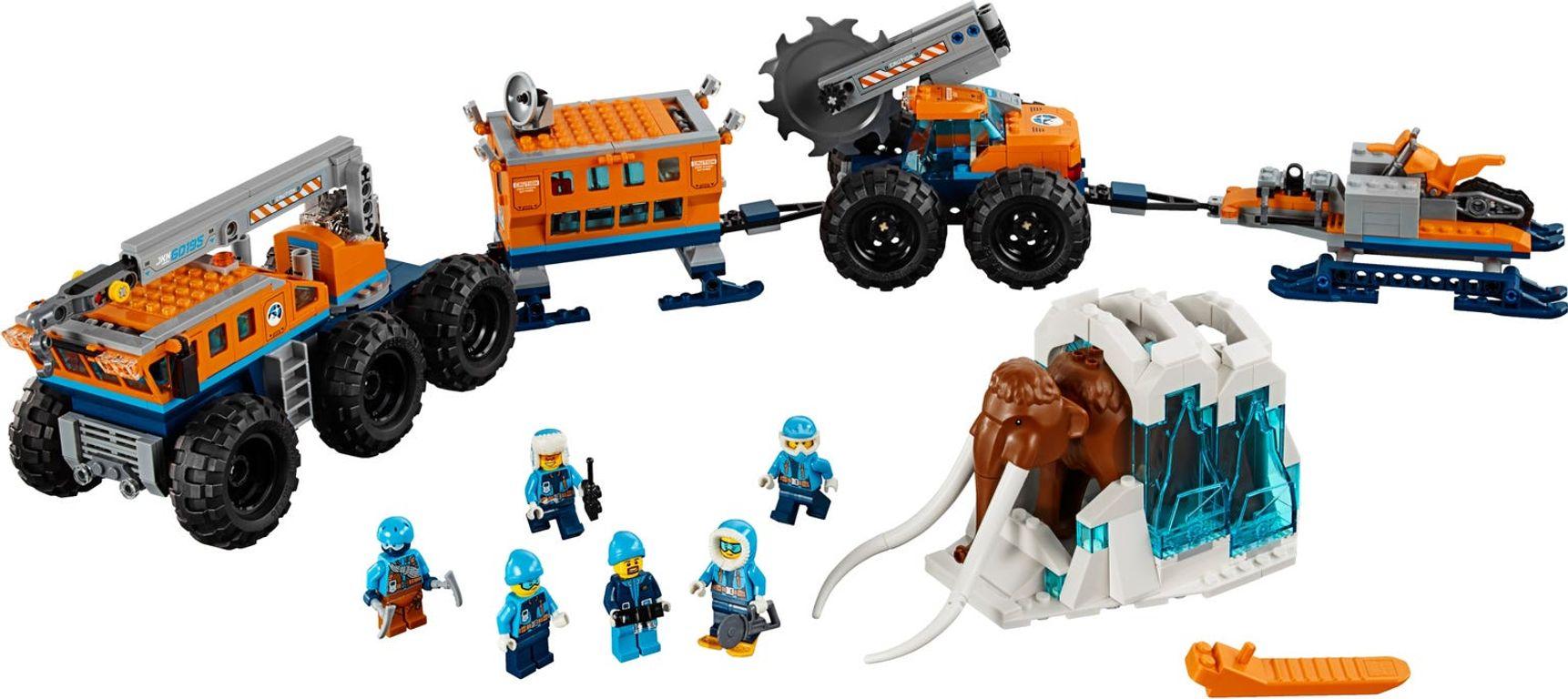 LEGO® City Arctic Mobile Exploration Base components