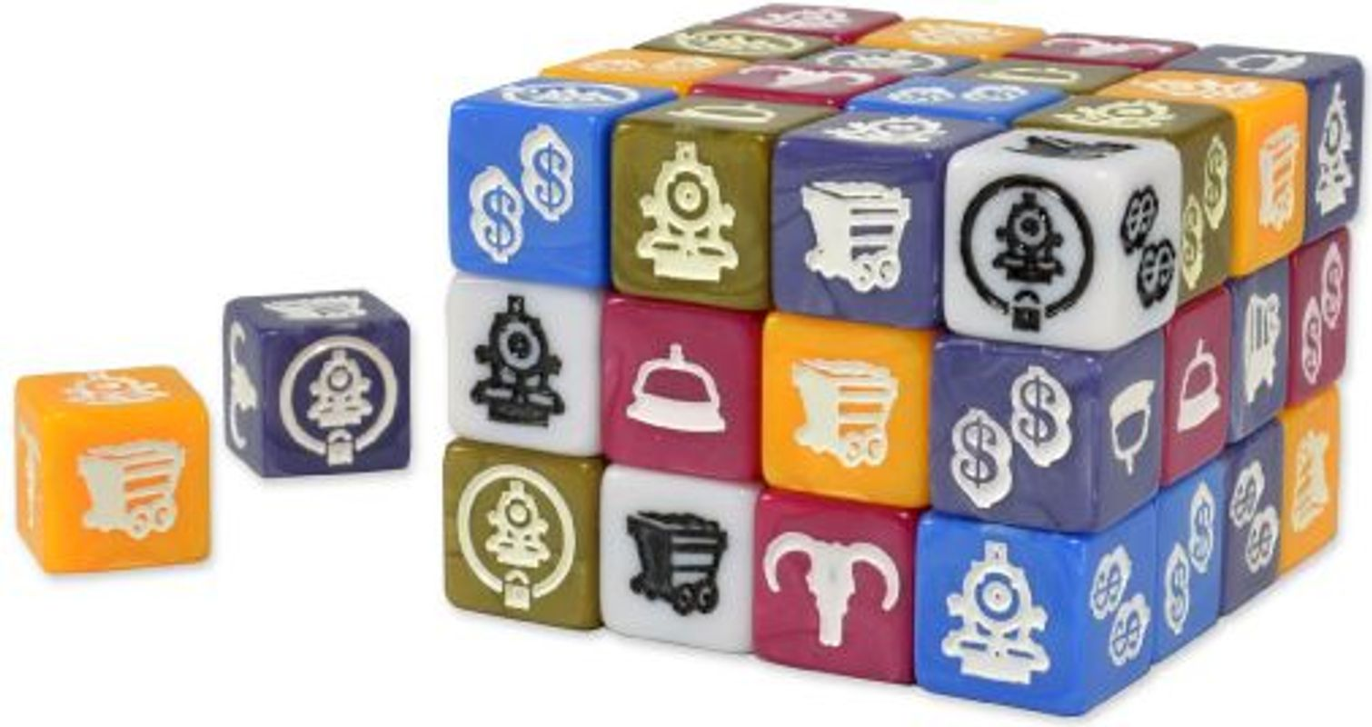 Trains and Stations dice