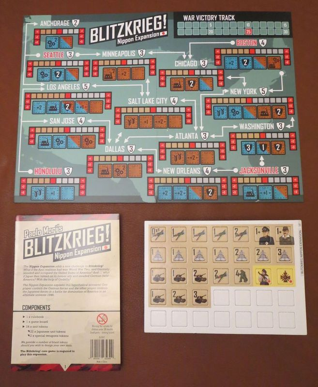 Blitzkrieg!: Nippon Expansion components